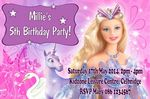 Personalised Barbie Invitations